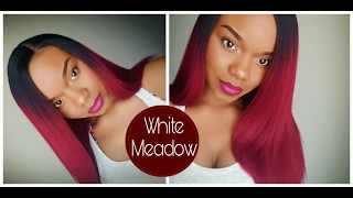 getlinkyoutube.com-$24 Yaki Straight: Model Model White Meadow L-Part Lace Front Wig.