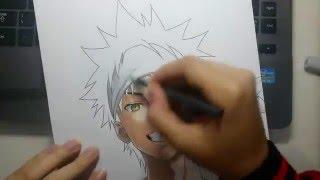 getlinkyoutube.com-Speed Drawing - Yukihira Souma (Shokugeki no Souma)