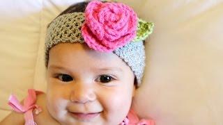 getlinkyoutube.com-Crochet Glama's Stretchy Rose Headband