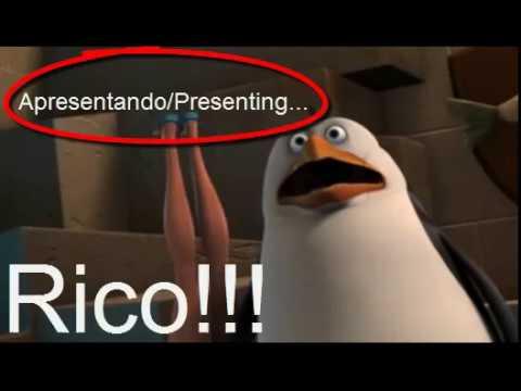 Os Pinguins de Madagascar com/with Touquinho-Aquarela!!!