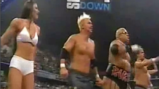 Godfathers hos dance with Rikishi & Too Cool - Too Cool VS. RTC - WWF Smackdown 9/7/00