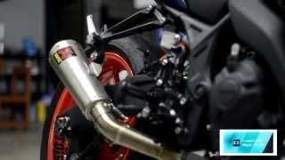 getlinkyoutube.com-Akrapovic full system yamaha R3  cr.motoism garage