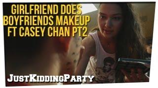 getlinkyoutube.com-Girlfriend Does Boyfriends Makeup ft Casey Chan pt 2