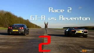 getlinkyoutube.com-2014 Nissan GTR VS Lamborghini VS Ducati