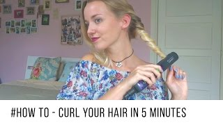 getlinkyoutube.com-How to Curl Your Hair in 5 Minutes | Quick & Easy ♡
