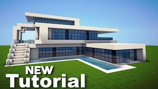 getlinkyoutube.com-Minecraft: How to Build a Realistic Modern House - Best Mansion Tutorial 2016