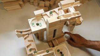 getlinkyoutube.com-A few tracks built with the marble run blocks