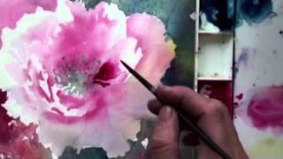 getlinkyoutube.com-Watercolor Painting with Lian Quan Zhen: Peony & Hummingbird (Preview)