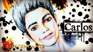 getlinkyoutube.com-DISNEY DESCENDANTS Learn How to Draw CARLOS Speed Drawing