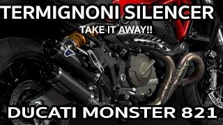 getlinkyoutube.com-Monster 821 Performance SilencerTermignoni Slip on