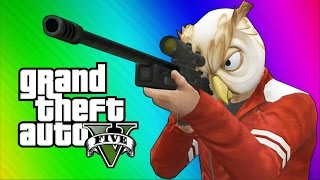 getlinkyoutube.com-GTA 5 Next Gen Funny Moments - Sniper Montage, Treehouse, Glitches, Bank Robbery!