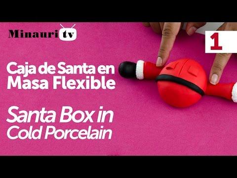 Navidad Caja Santa 1/2 - ( Christmas Santa box )  02051 Minauri QMCreativ@s