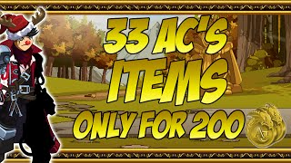 =AQW= 33 Ac's Items for 200 Aventure Coins!