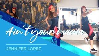 getlinkyoutube.com-Ain't your mama - Jennifer Lopez - Easy Fitness Dance Choreography - Zumba