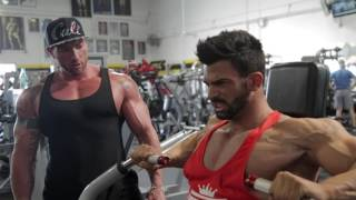 getlinkyoutube.com-Sergi Constance Chest day workout at golds gym Venice with Justin Lovato