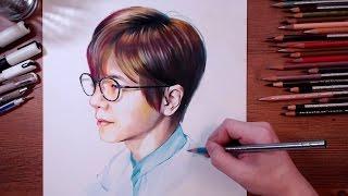 getlinkyoutube.com-Self Portrait Drawing - 2Hours Challenge | drawholic