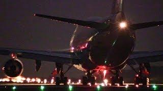 getlinkyoutube.com-翼を振って永遠のお別れ、さよなら熊本空港!!! B747ジャンボジェット機離陸 さよならフライトチャーター ANA2002便