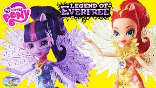 getlinkyoutube.com-My Little Pony Legend Of Everfree Dolls Sunset Shimmer Twilight Surprise Egg and Toy Collector SETC