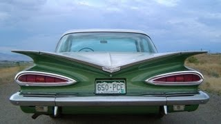 getlinkyoutube.com-Driving a 1959 Chevrolet Bel Air 283 Stick Shift - ROAD TEST