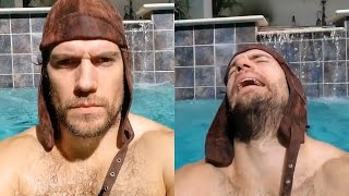 getlinkyoutube.com-Henry Cavill | Workout in The Pool! - 2017