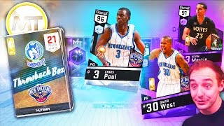 NBA 2K17 My Team LOADED PACKS FOR DIAMOND CHRIS PAUL! SWEET THROWBACK PACKS!