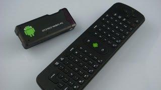 getlinkyoutube.com-Mini Smart Tv Android 4.0 mini PC MK802 & Flymouse Remote