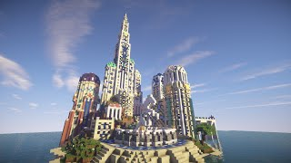 getlinkyoutube.com-Minecraft Atlantis Castle Build Timelapse (The lost Kingdom)