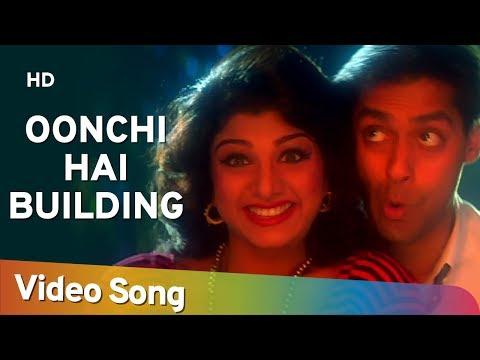 Oonchi Hai Building - Salman Khan - Karishma Kapoor - Rambha -  Judwaa Songs - Anu Malik - Poornima -QmHTmr8Kazs