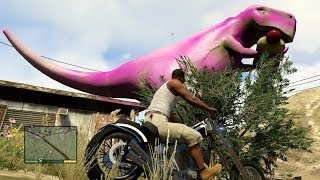 getlinkyoutube.com-GTA V Free Roam Gameplay & Pink Dinosaur