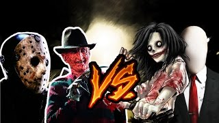 getlinkyoutube.com-Freddy y Jason vs Slenderman y Jeff the killer (Tramzeta, AdriRosan, Shado)