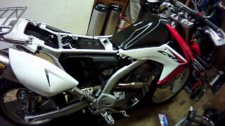 getlinkyoutube.com-2013 CRF250L FMF exhaust, 13T sprocket, airbox mods