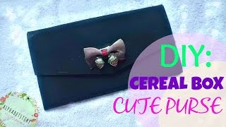 getlinkyoutube.com-DIY: CUTE PURSE from cereal boxes | FUN and EASY | CHEAP | alphabetstory