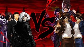 getlinkyoutube.com-[Mugen 1.1 HD] KOFM LEVEL 2 Boss Team vs. 2002 UM Clone Team