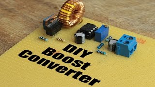 getlinkyoutube.com-DIY Boost Converter || How to step up DC voltage efficiently