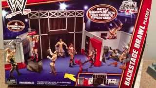 WWE ACTION INSIDER: Backstage Brawl Kmart exclusive playset! NEW Mattel wrestling figures toy