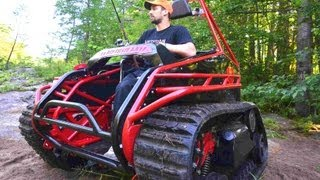 getlinkyoutube.com-Extreme Offroad Tracked Wheelchair the Original Ripchair 2.0