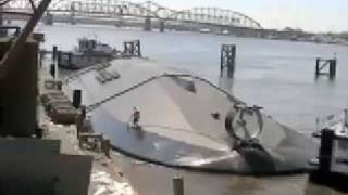 getlinkyoutube.com-Ferry hull launch and roll over