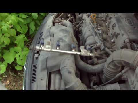 Где находятся опоры двигателя в KIA Shuma