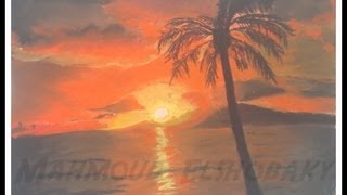 getlinkyoutube.com-رسم غروب الشمس بالسوفت باستيل Drawing SunSet with soft(chalk) pastels