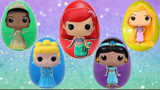 getlinkyoutube.com-Disney Princess Funko Pop Figures / Tiana, Ariel, Rapunzel, Kinder Chocolate Egg Toy Surprise / TUYC