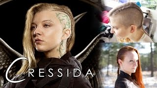 Hunger Games Hair Tutorial - Cressida (for both shaved and unshaved heads)