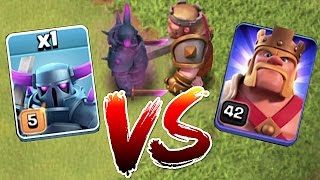 getlinkyoutube.com-BATTLE TO THE DEATH!!! MAX PEKKA vs. LVL 42 HERO!! | clash of clans