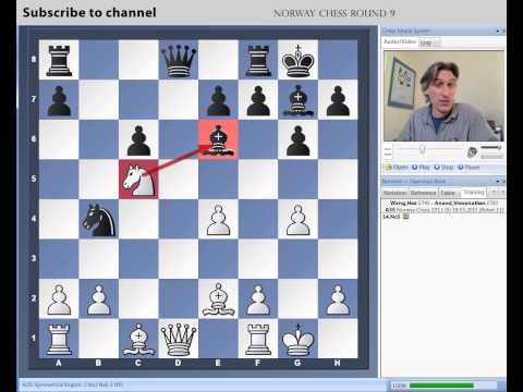 Norway Chess 2013 Round 9 Wang Hao vs Anand