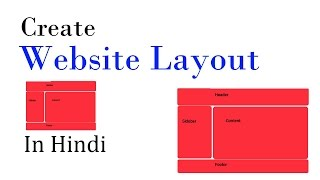 CREATE WEBSITE LAYOUT USING HTML AND CSS VERY EASY TUTORIAL HINDI