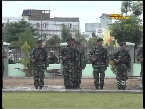 Pasukan Yonif 641/Raiders kembali dari latihan di pusdik Passus