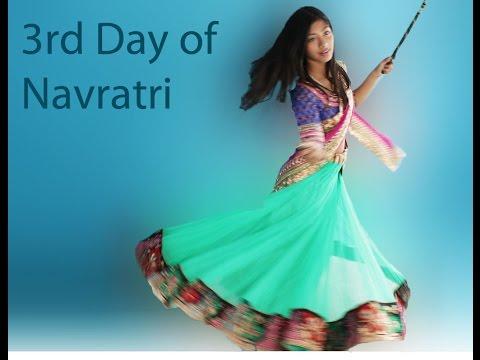 Step by Step Drape Chaniya Choli Chennai Express Style: 3rd day of Garba