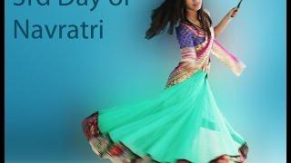 getlinkyoutube.com-Step by Step Drape Chaniya Choli Chennai Express Style: 3rd day of Garba Navratri