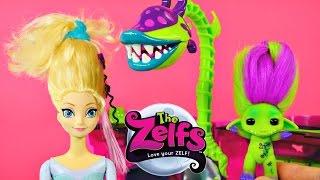 CRAZY Frozen Elsa Hair Makeover by The Zelfs Venus Flytrap Spin Salon Disney Barbie Dolls DCTC