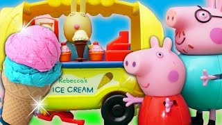 getlinkyoutube.com-Peppa Pig Toy English Episode 2017  Fun at the Fair - Play Doh Ice Cream Family Fun for children