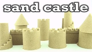 getlinkyoutube.com-How to build a Kinetic Sand Castle - DIY Sand Castle with magic sand and toy tools